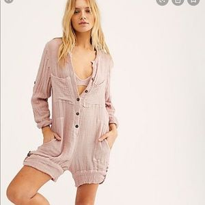 NEW Free People Brown Jens Pirate Booty Romper M